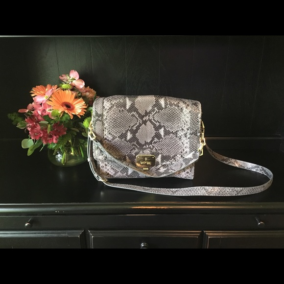 Cole Haan Handbags - Cole Haan Python Print Leather Purse